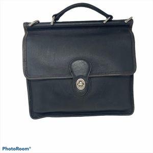 Coach Purse Vintage Leather #L2P-9927 Black
